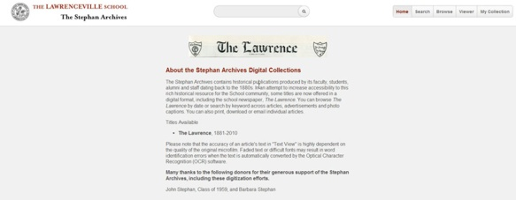 lawrence home page