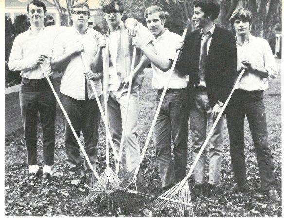 Boys with rakes