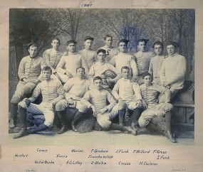 1887 Football Team with D. Michie 88' and A.S. Lilley '88